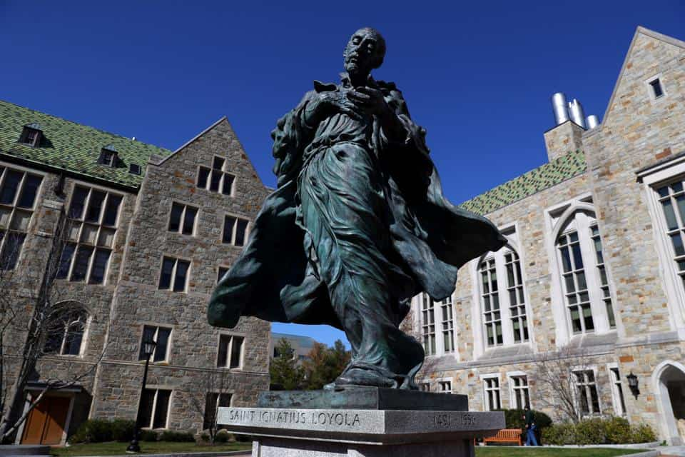 A statue of Saint Ignatius Loyola
